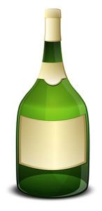 Champaign Bottle Vector Object