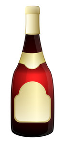 Champaign Bottle Vector