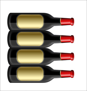 Champaign Bottles Vector Illustration