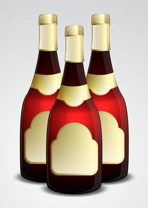 Champaign Bottles Vector