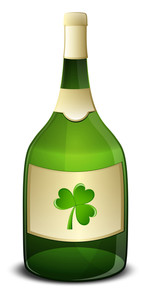 Champaign With Shamrock