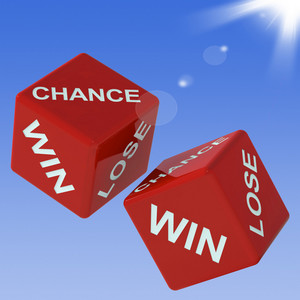 Chance, Win, Lose Dice Shows Gambling