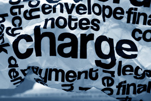 Charge Text On Crinkled Paper