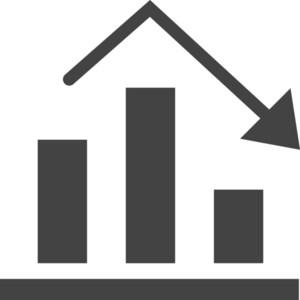 Chart  Down Glyph Icon
