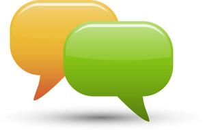 Chat Bubbles Lite Communication Icon