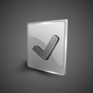Check Mark Validation Symbol Icon Set.