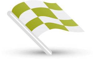 Checkered Flag Pea Green Lite Sports Icon
