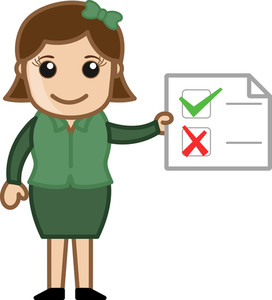 Checklist - Business Cartoons Vectors