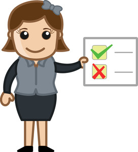 Checklist Showing - Cartoon Bussiness Vector Illustrations