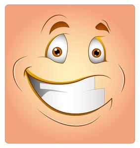 Cheerful Box Smiley Vector Illustratio