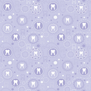 Cheerful Seamless Texture With Cartoon Teeth