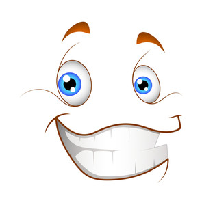 Cheerful Smile Cartoon Face