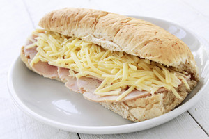Cheese And Ham Sub Sandwich