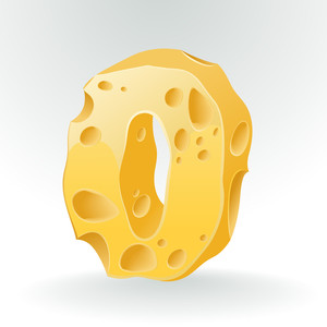 Cheese Vector Abc. Figure 0.