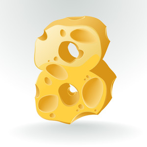Cheese Vector Abc. Figure 8.