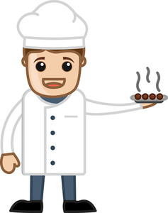 Chef - Cartoon Business Vector Character
