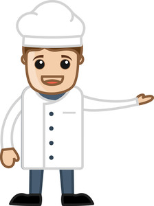 Chef - Cartoon Vector Character