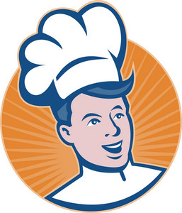 Chef Cook Baker Retro