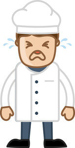 Chef Crying - Cartoon Vector Illustration