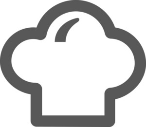 Chef Hat Stroke Icon