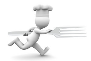 Chef Running With Fork