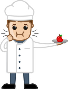 Chef Tasting The Food - Cartoon Business Vector Character