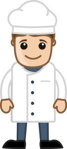 Chef - Vector Character Cartoon Illustration