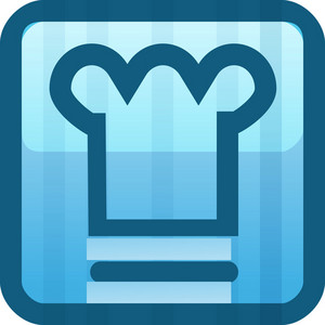 Chefs Hat Blue Tiny App Icon