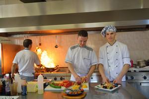 Chefs preparing food