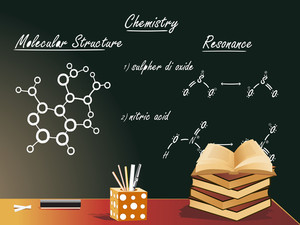 Chemistry Class Vector Illustration