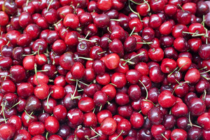 Cherries on market