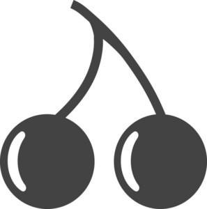 Cherry Glyph Icon