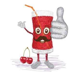 Cherry Juice Mustache