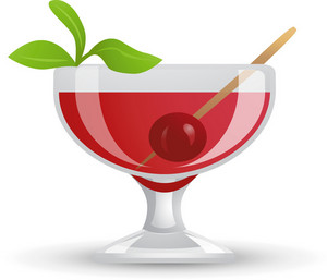 Cherry Martini Drink Icon