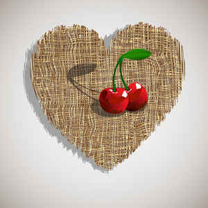 Cherry On Weave Heart