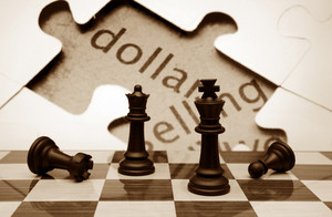 Chess And Dollar Concept