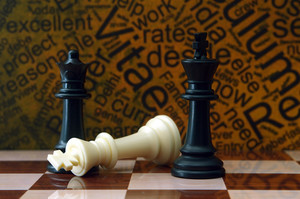 Chess And Job Concept