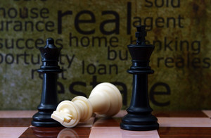 Chess And Real Estate Concept