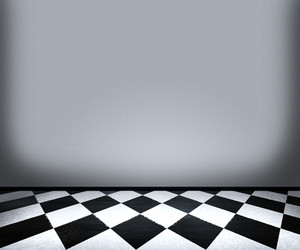 Chessboard Floor Tiles In Room