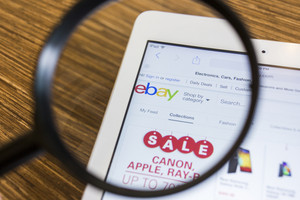 CHIANG MAI, THAILAND - September 17, 2014: Close up of ebay.com website on a Apple iPad Air screen. ebay is one of the largest online auction and shopping websites.