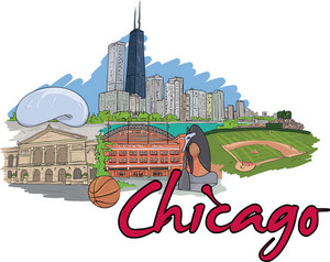 Chicago Vector Doodle