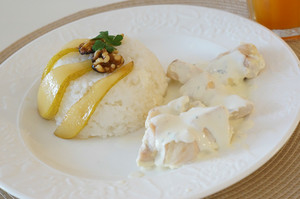 Chichen With Rice And Pear-italian Food