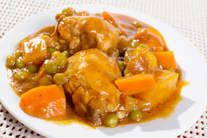 Chicken Afritada On Plate