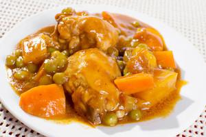 Chicken Afritada On Plate
