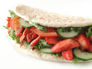 Chicken Doner Naan Bread Sandwich