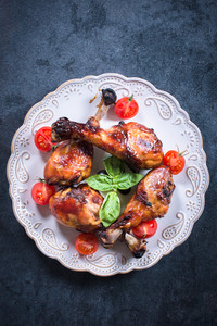 Chicken Drumsticks On Plate