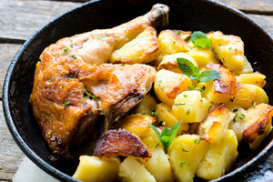 Chicken Leg And Potato