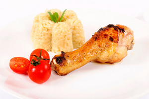 Chicken Leg And Rice