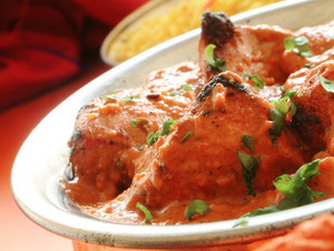 Chicken Tikka Massala In Metal Dish