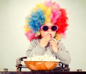 Child And Popcorn
